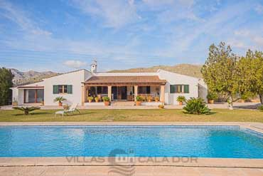 Country house  Rullan to rent in Pollensa,  mallorca 4 bedrooms